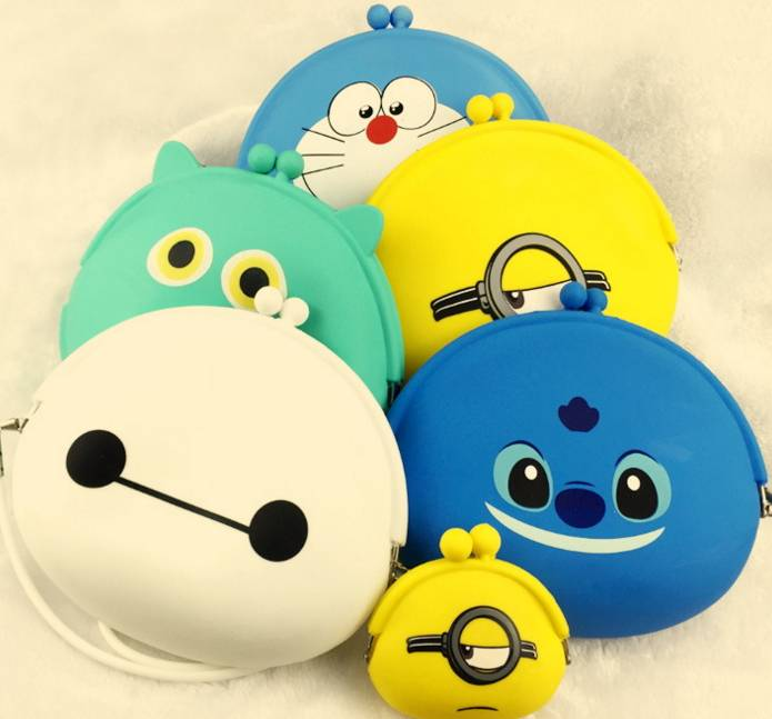Lovely silicone purse silicone coin bag