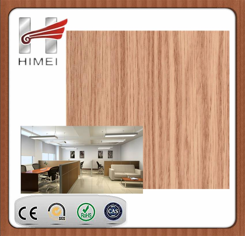 Wooden color pvc laminated sheet for office partition