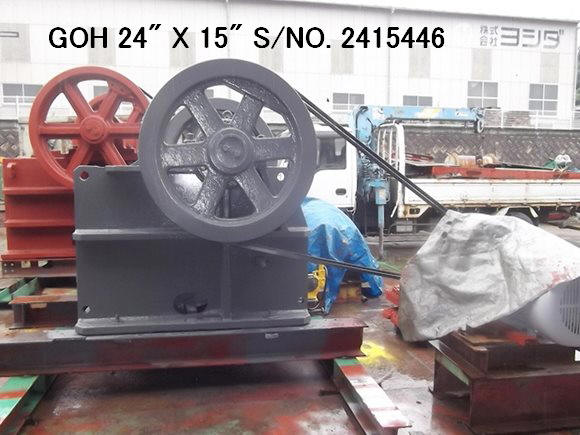 "USED ""GOH"" 24"" X 15"" SINGLE TOGGLE JAW CRUSHER S/NO. 2415446 WITH 37KW MOTOR X 6 POLE X 220V"