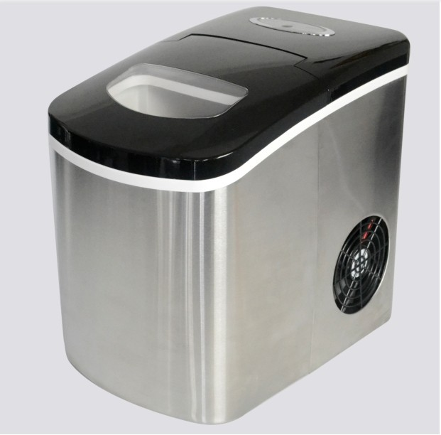 Tabletop home ice maker with stianless steel