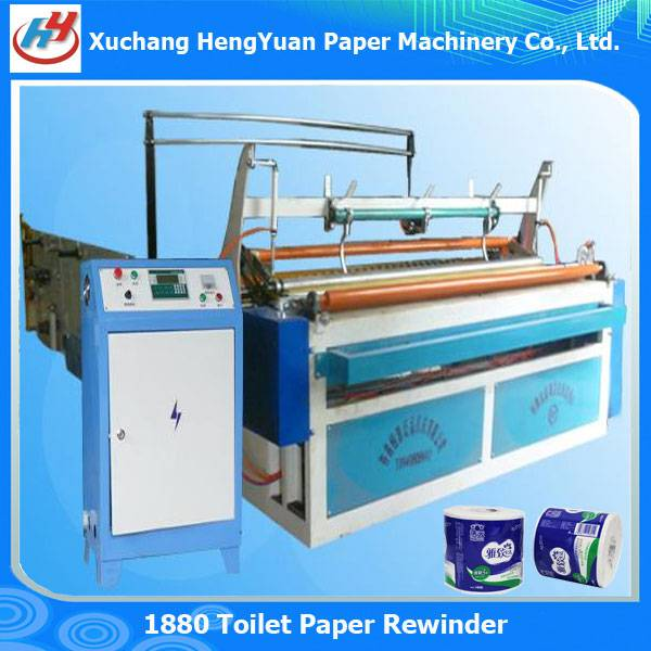 Full Automatic Embossing Toilet Paper Rewinder Machine
