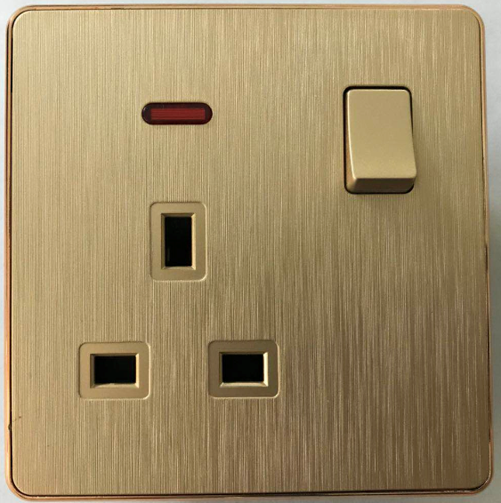 (CO)13A golden wiring switched socket