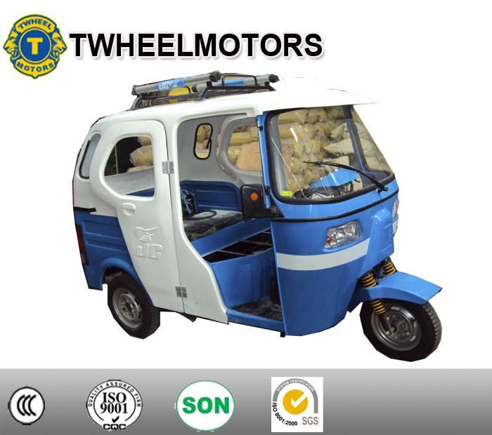 Bajaj Passenger Tricycle With Rear Engine and side doors, Three wheel
