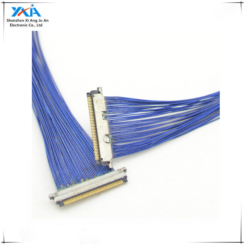 0.4mm10pin I-PEX 20373-010T to 10pin I-PEX 20373-010T EDP micro coax AWG36 lvds cable assembly