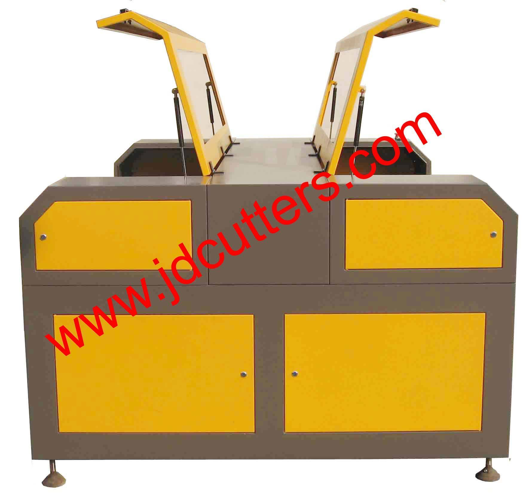 High Production Laser Engraving Cutting Machine with double laser head