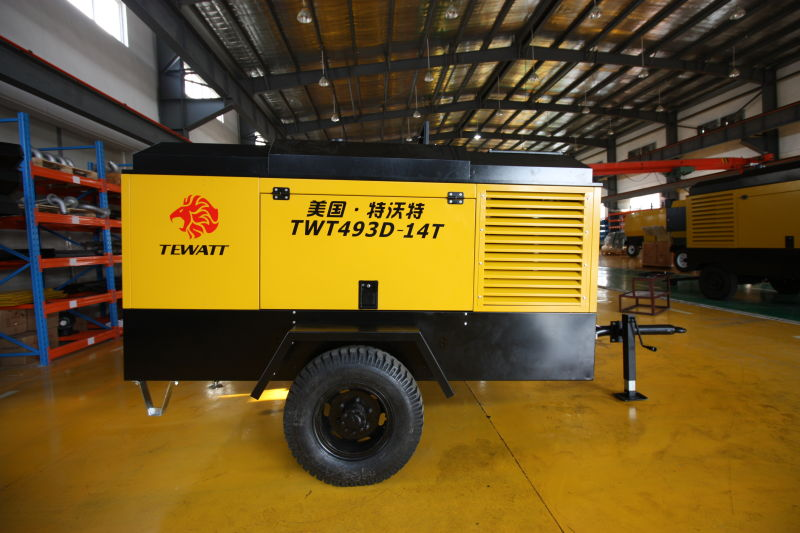 TEWATT TWT493D-14T portable diesel air compressor