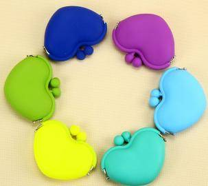 silicone purse fashion food grade silicone bag
