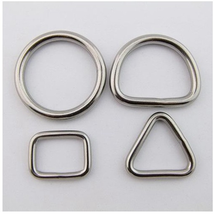 Hareware metal connecting ring link welded D shape ring