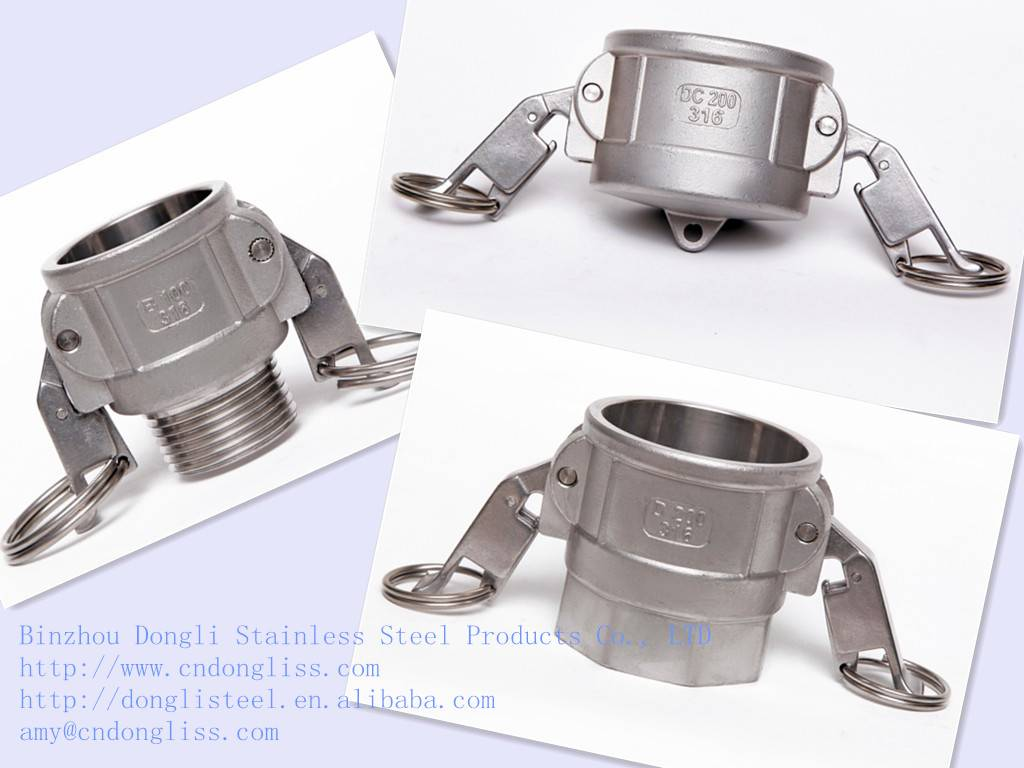 China factory hot sale Type D Stainless Steel Self-locking Couplers, Camlock Coupling