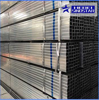Hot Dipped Galvanized Rectangluar Steel Pipe And Tubes