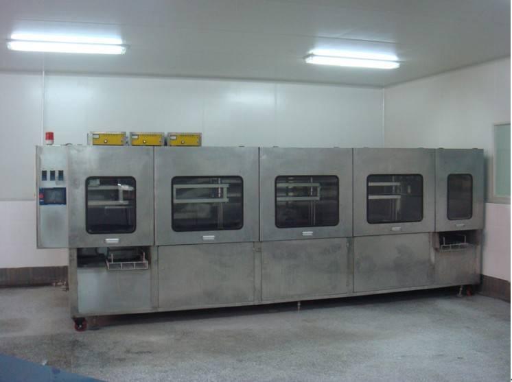 Automatic needle tube ultrasonic wave cleaning machine