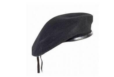 100% wool and PU fabric custom military beret cap