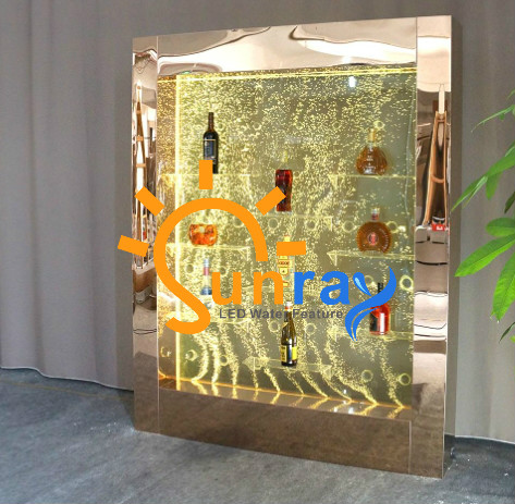 H2XW1.5m Luxury Floor-Standing LED dancing bubble cabinet displayer for KTV resturant Bar