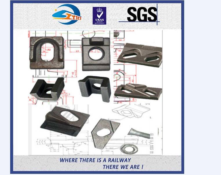 ZhongYue Plain Surface Carbon Steel KPO Type Rail Clip For DIN 536 And UIC 860 Standard Rail