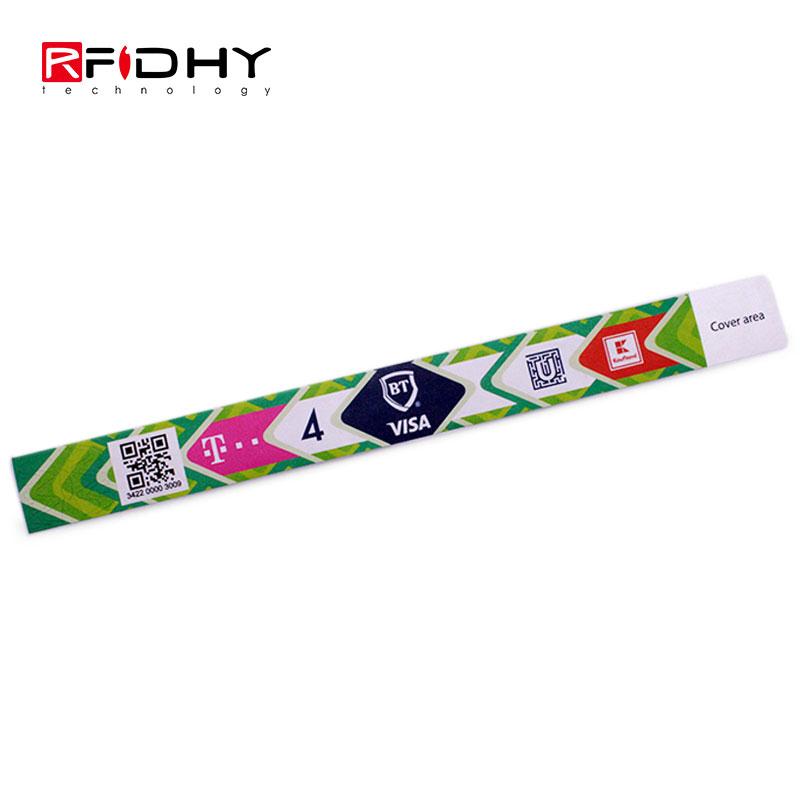 Disposable Tyvek RFID Bracelet with QR Code
