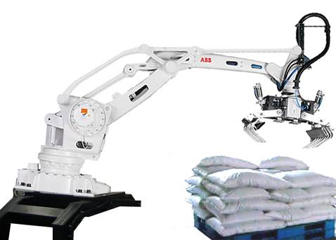 Auto packing machine, robot palletizing machine