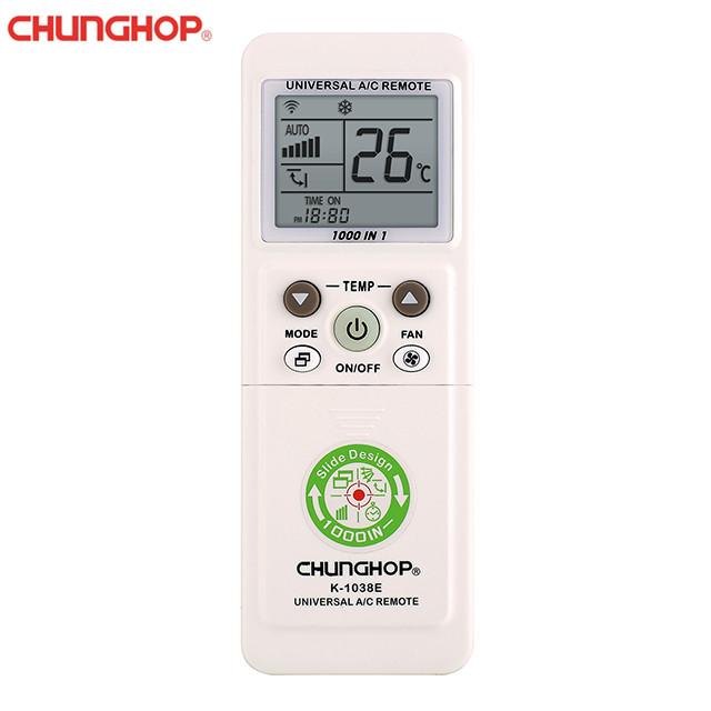 CHUNGHOP K-1038E Remote Control Air Conditioner Universal Slide Design