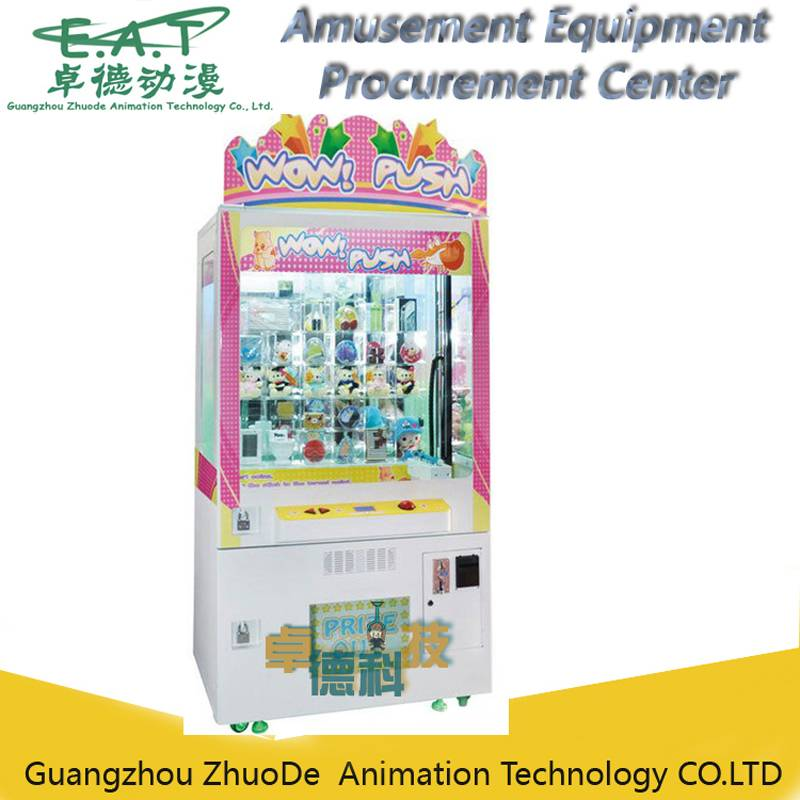 Happy Push Gift/toy push game machine /gift game mechine crane machine