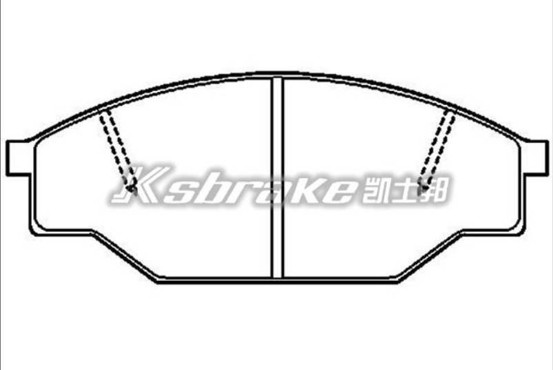 Semi-metallic car brake pad