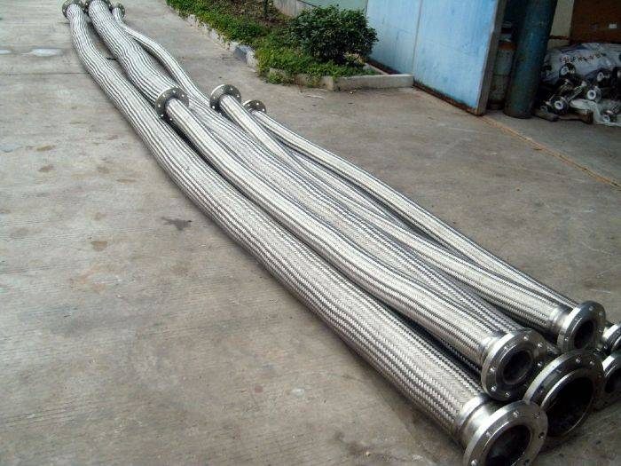 Supplying  DN250mm austenitic/metal hose compensator flange connection