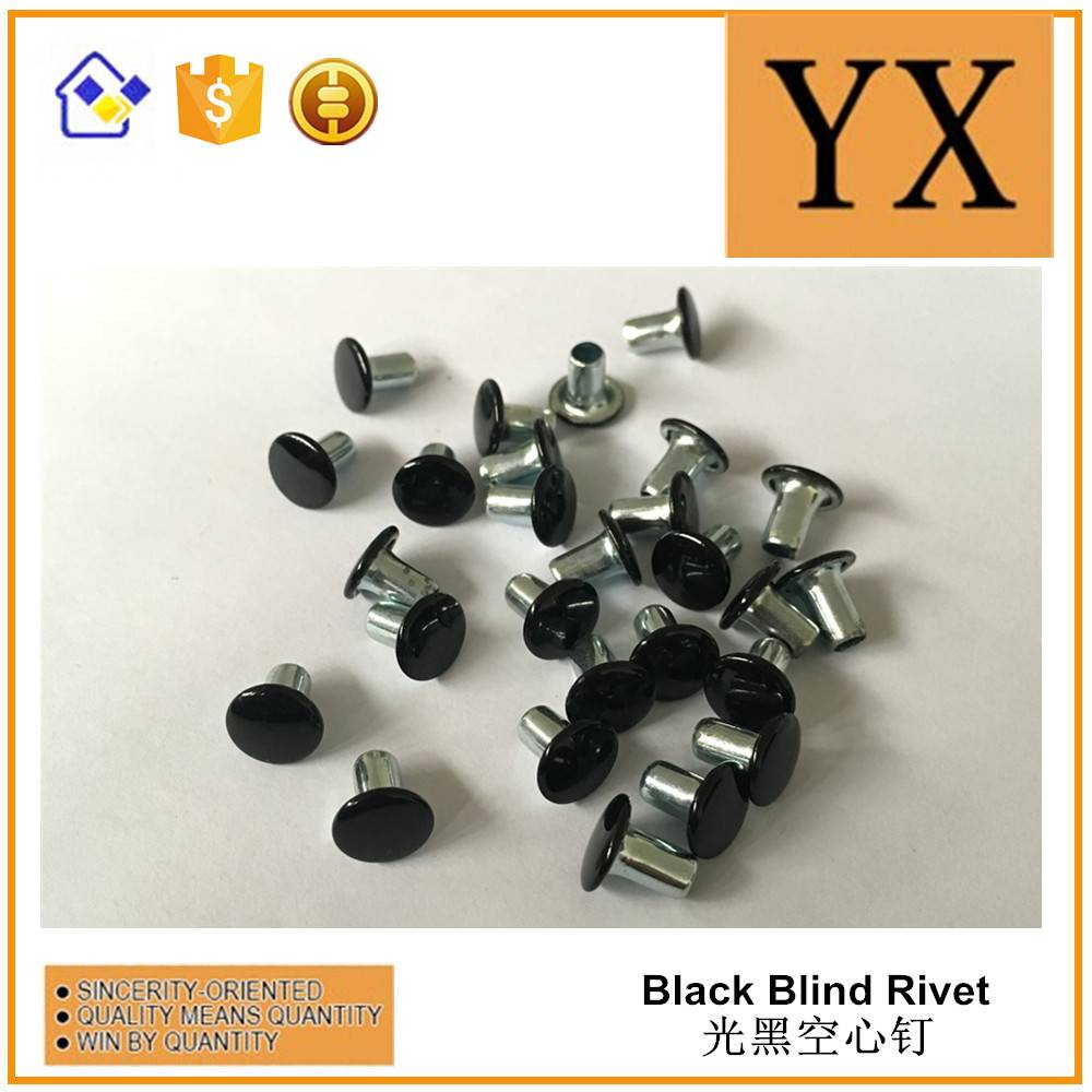 Folder accessories black color blind rivets high quality metal screw rivet