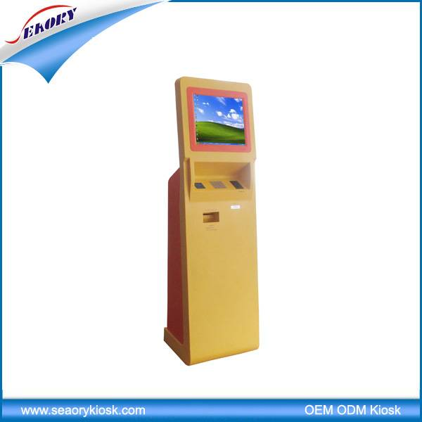 customized 17'' touch screen payment kiosk/bill payment kiosk/payment vending machine