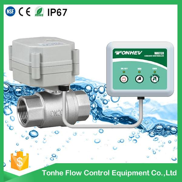 NSF hot sale brass valve electric automatic water shut off valve for water leak detector