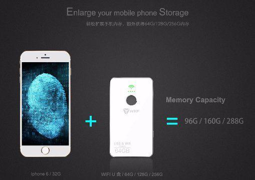 Herofun Smart Fingerprint USB Disk Metal Material Large Memory Disk