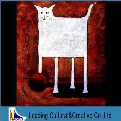 absract cat modern art work wall hanging picture