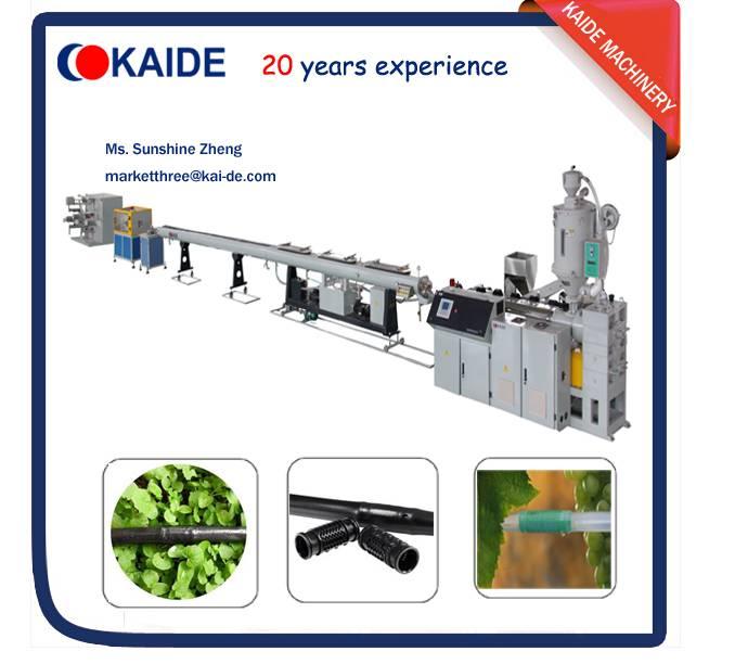 PE inline round drip irrigation pipe making machine KAIDE