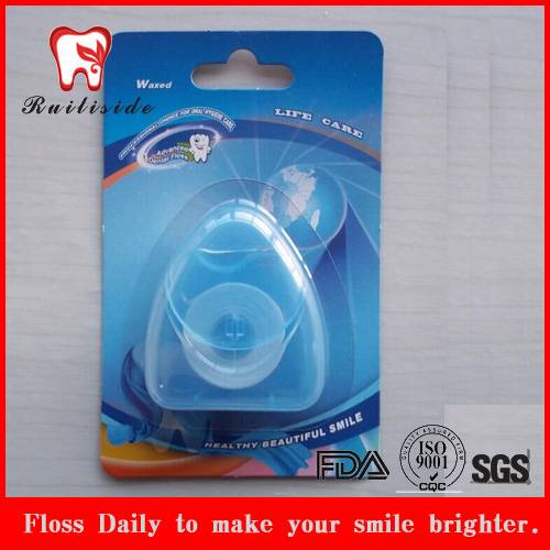 Blister triangle shape PTFE dental floss
