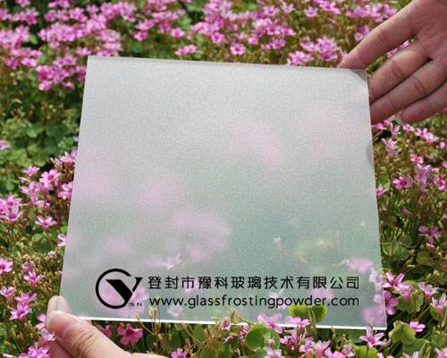 Water-based oil-sand effect glass etching powder
