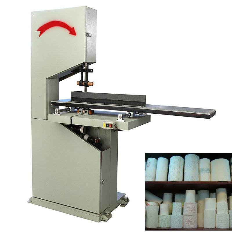 XY-AI-300 Semi automatic small toilet paper roll cutting machine