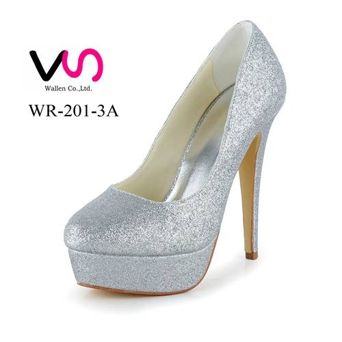 5 inch surper high heel glitter shinny party shoes for women