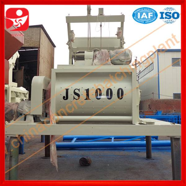 China new brand JS1000 twin shaft concrete mixer