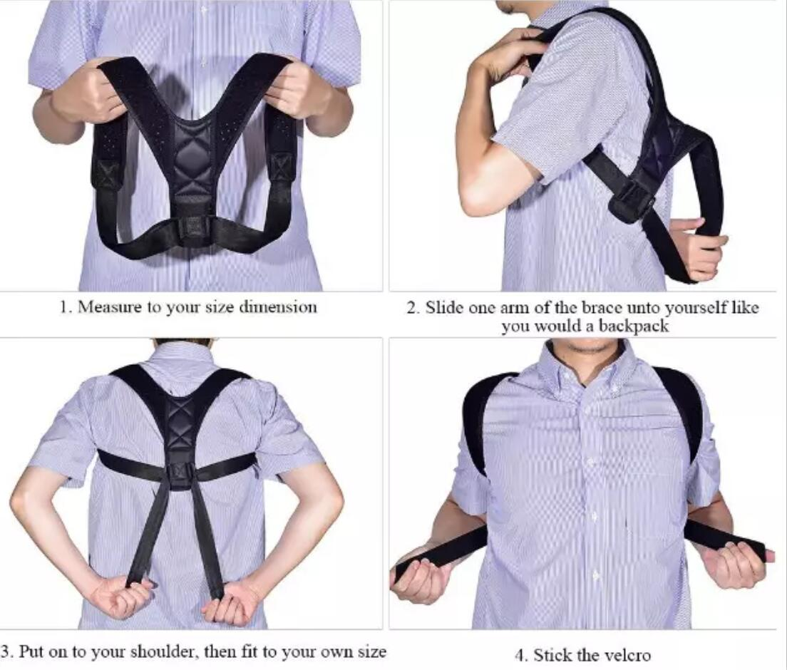 Posture Corrector For Men And Women, Back Braces with Adjustable Belt for Anti-humpback Clavicle Sup