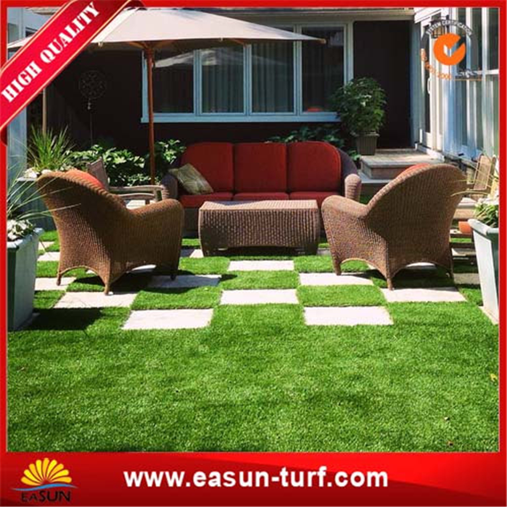 Biggest manufacuturer anti-UV synthetic garden grass turf-ML