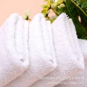 China Top 10 Towels' factory high quality 100% cotton Jacquard weave white import towel