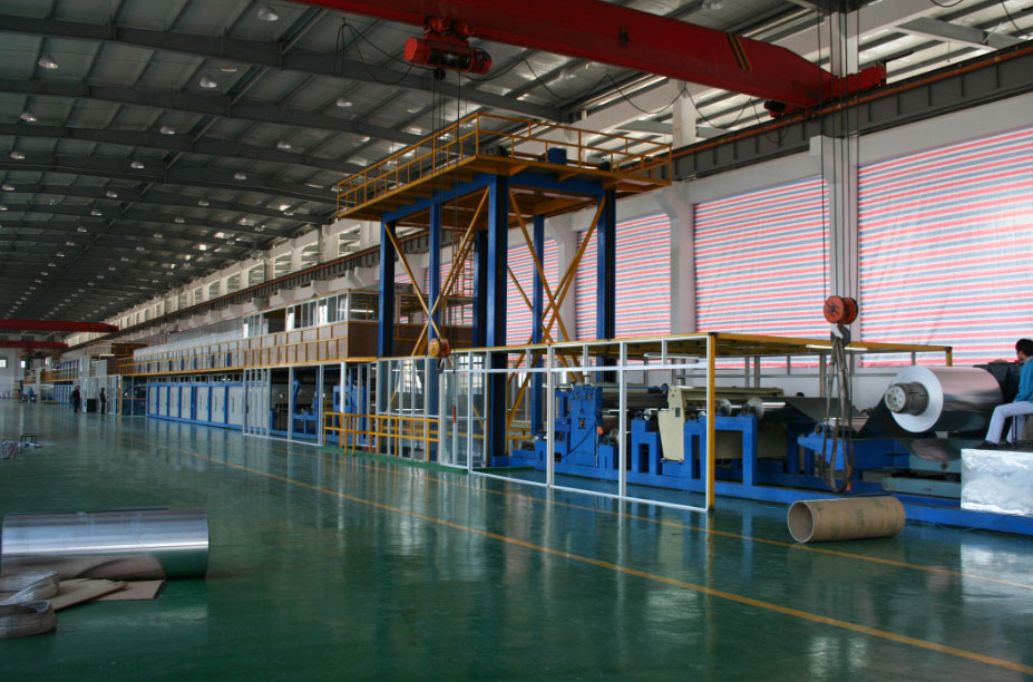 Aluminum/ steel coil coating line