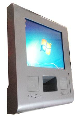 J10 stainless steel wall-mounted touchscreen information kiosk with IC and RFID(NFC) contactless car