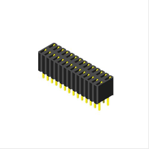 Computer connector 1.27mm DIP type Female Header, U shape terminal