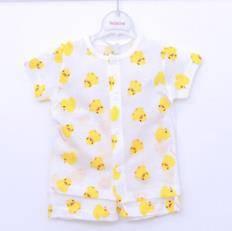 Duck short-sleeved infant underwear