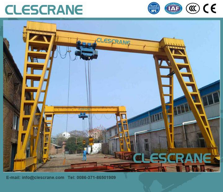 LHG Series CD(MD) wire rope hoist gantry crane with electric hoist $1000~ $8000