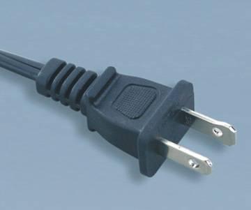 UL 2pin American power cord plug