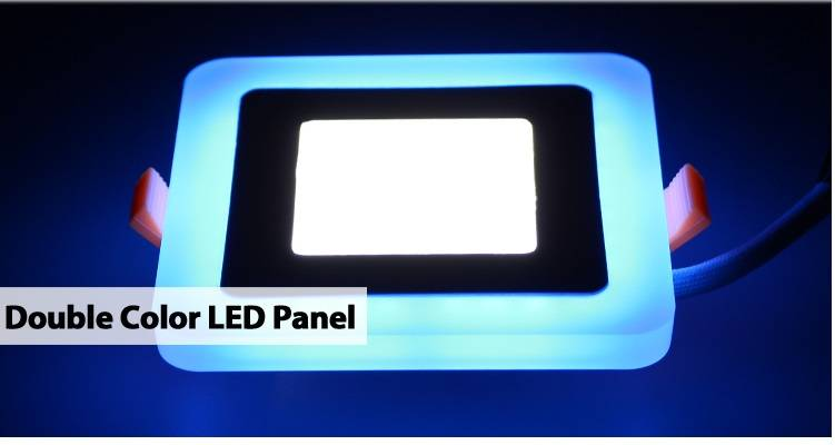 Led Panel Lights with Double Color Changaeble Dimmable Suqare 9w 145 x 145 Ultra Thin Panel