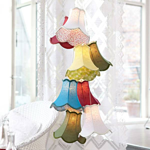 8 lights fabric chandeliers/colourful fabric shade chandeliers/eight heads chandelier/hanging chande