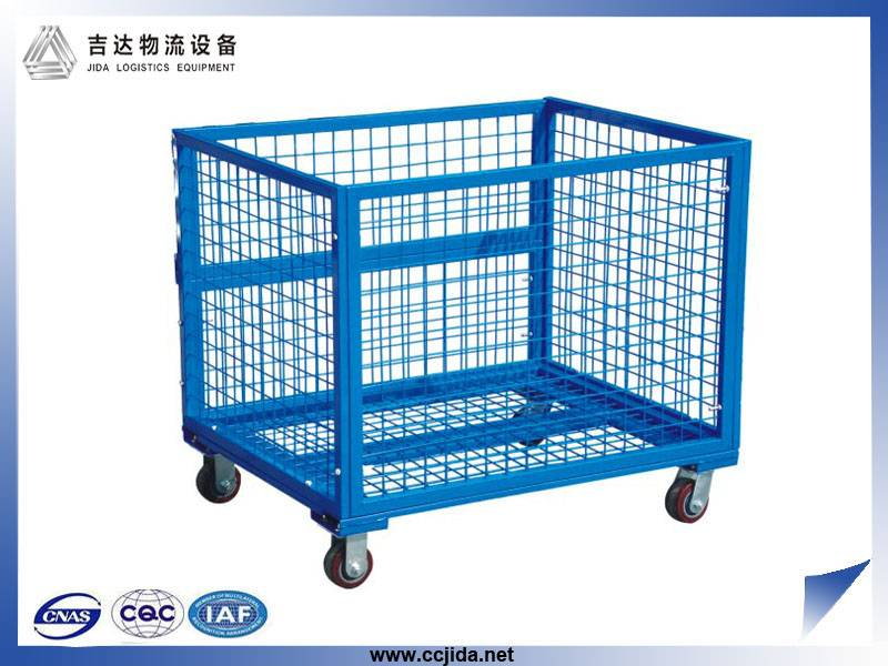 industrial stackable metal box pallet with wheels