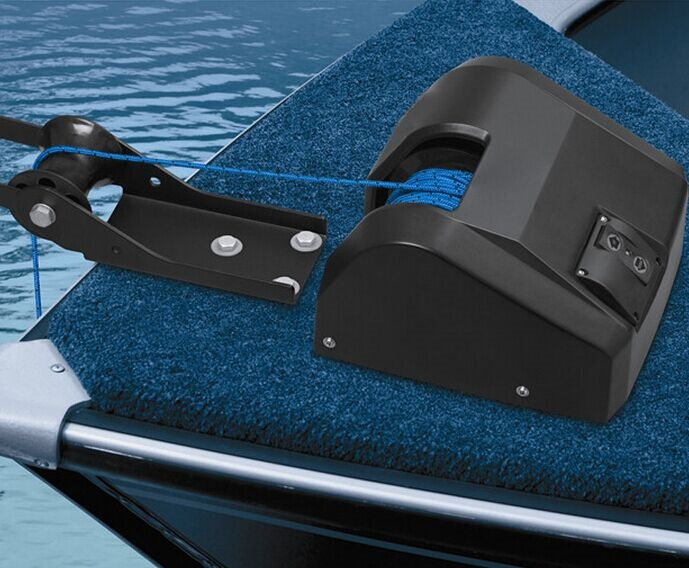 Marine Boat 12V Electric Anchor Winch Freshwater w/Second Switch Kit 25LBS