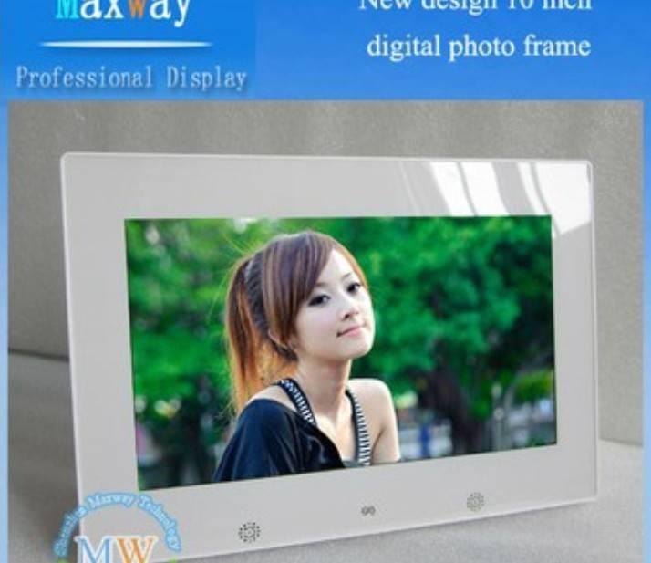 New design 10 inch shenzhen digital photo frame