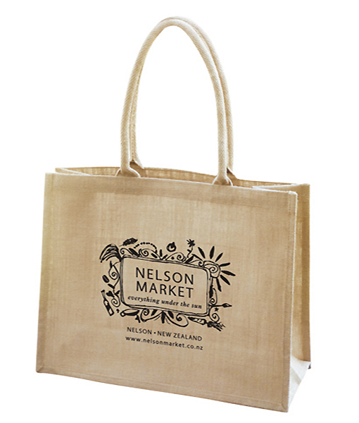 Personalized bride jute burlap tote bag for wedding